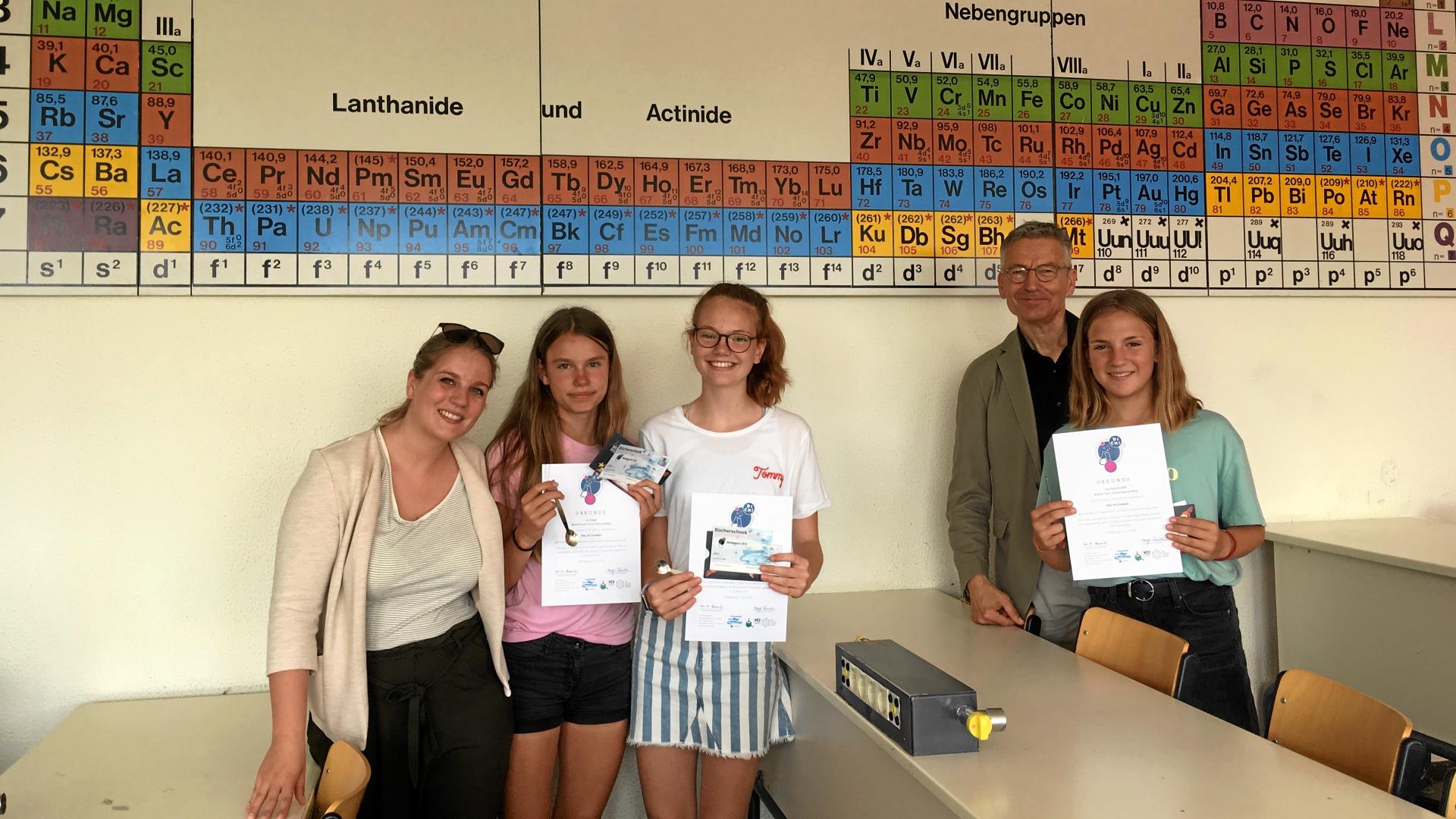 """Mit Tintenkillern und Zaubermalern beim Wettbewerb """"Das ist Chemie!"""" 2019"""