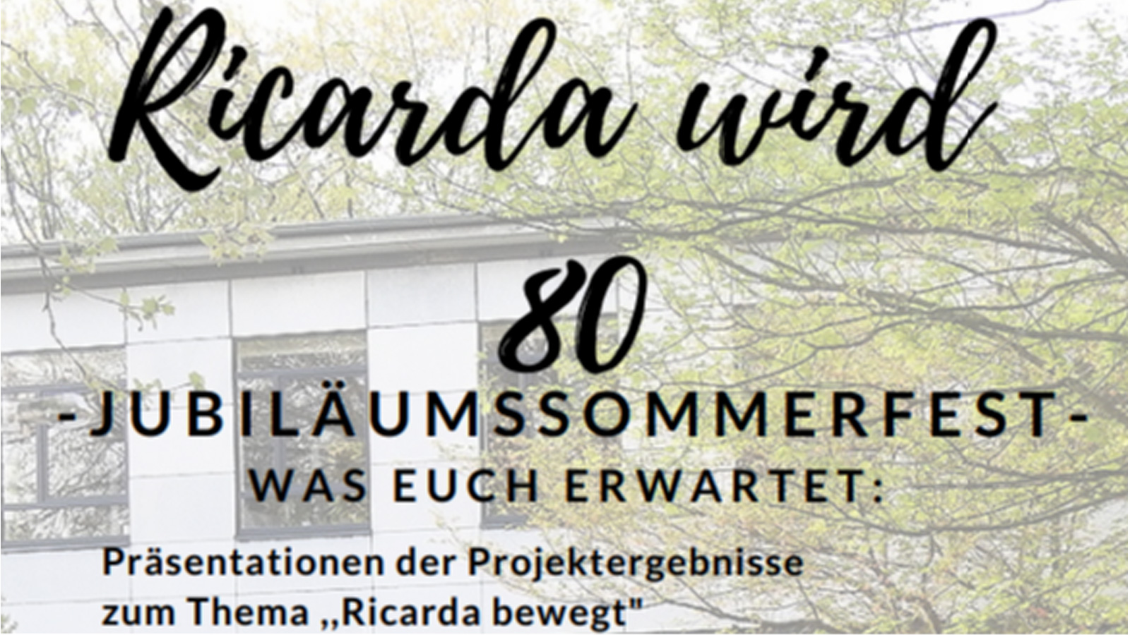 Jubiläumssommerfest – Ricarda wird 80